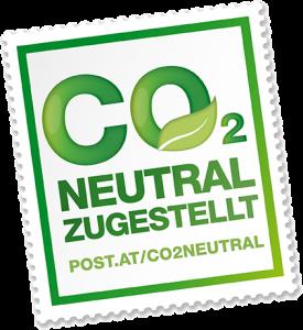 In Österreich mit der Post CO2-neutral zugestellt